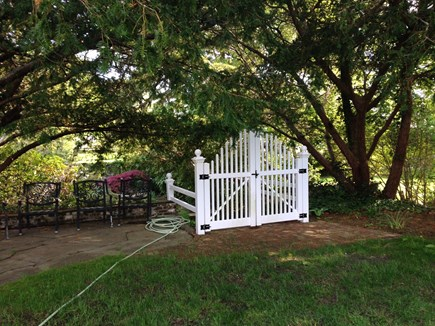 Harwichport, just across from  Cape Cod vacation rental - Gate opens to Koi Pond for your reading and relaxation.