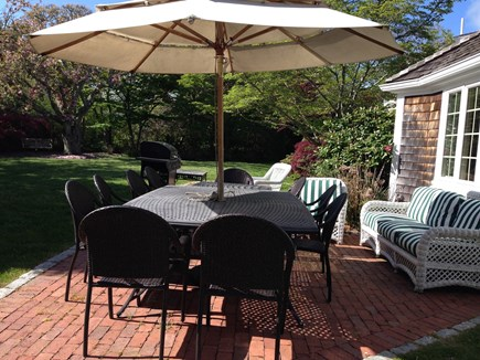 Harwichport, just across from  Cape Cod vacation rental - One of the three patios where everyone can gather.