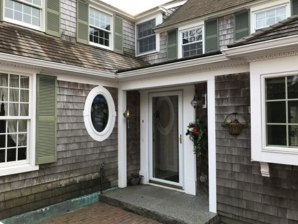 Harwichport, just across from  Cape Cod vacation rental - Side entrance with brick patio