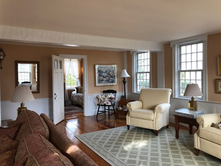 Harwichport, just across from  Cape Cod vacation rental - Living area looking into first floor bedroom