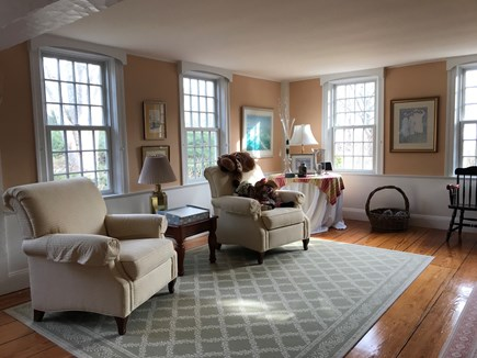 Harwichport, just across from  Cape Cod vacation rental - Large reading area on first floor over looking harbor.