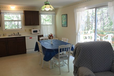 Wellfleet Cape Cod vacation rental - Beautiful Kitchen bright and sunny leads outside to the deck.
