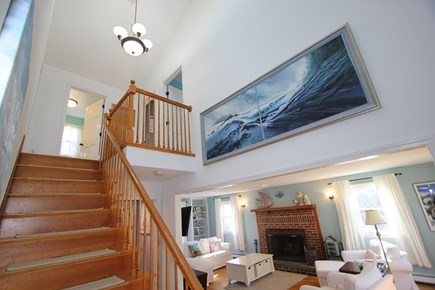 Mashpee Cape Cod vacation rental - Stairs with Balcony