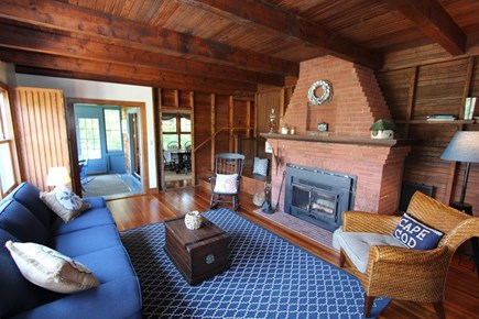 Plymouth MA vacation rental - Living Area w/ Fireplace (Not for use)