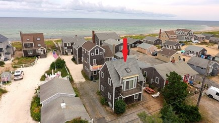 Sandwich Cape Cod vacation rental - Aerial View of the Cottage