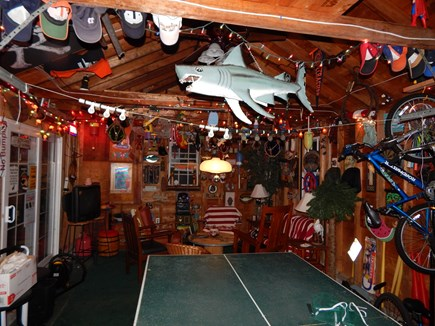 Falmouth Cape Cod vacation rental - Garage game room and fun-town, with a TV!