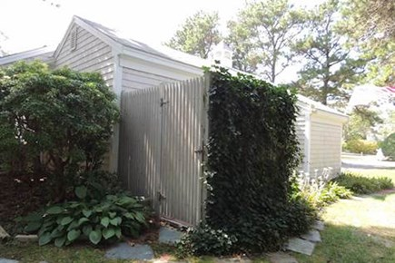 West Harwich Cape Cod vacation rental - Outdoor shower and changing room