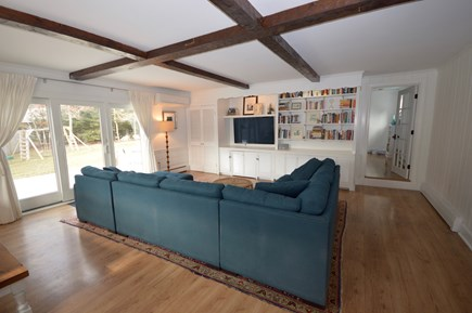 Orleans Cape Cod vacation rental - Large main living room with large flat screen and sliders to full
