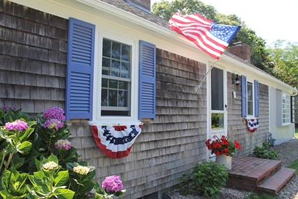 Falmouth Cape Cod vacation rental - Front of house decorated for 4th of July