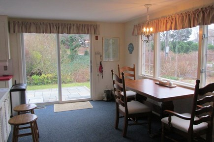 Orleans Cape Cod vacation rental - Dining area with sliders to back deck and yard