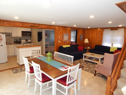 Falmouth Cape Cod vacation rental - Big open eating areas in and out!