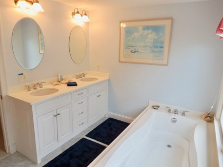 Chatham Cape Cod vacation rental - Second level master bath with water views!