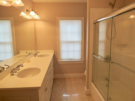 Chatham Cape Cod vacation rental - Master bathroom with dual vanity