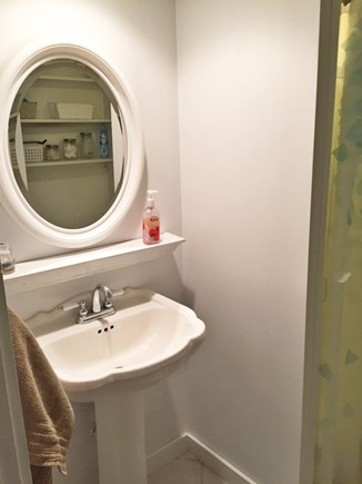 Harwichport Cape Cod vacation rental - 1st floor bathroom with shower stall