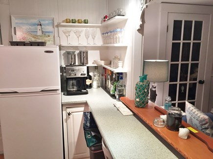 Harwichport Cape Cod vacation rental - Kitchen counter and eat in bar