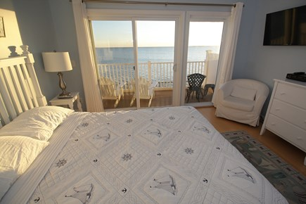 Truro Cape Cod vacation rental - Comfortable Queen sized bed with a slider to your private deck