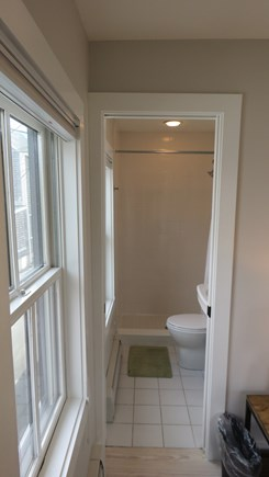 Provincetown Cape Cod vacation rental - On-suite bathroom second floor bedroom on left side