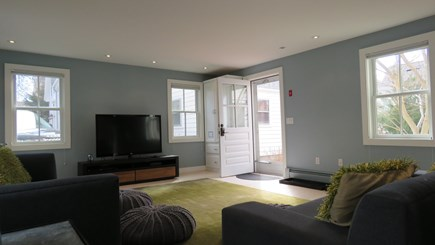 Provincetown Cape Cod vacation rental - Living room area with lots of light shining in.