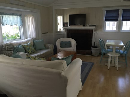 248 Old Wharf Road, dennis Cape Cod vacation rental - Living area with flat screen cable TV and indoor eating area