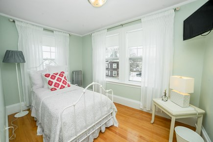 Downtown Plymouth MA vacation rental - Twin room with a view of the water.