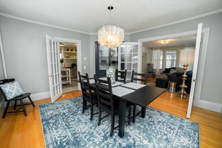 Downtown Plymouth MA vacation rental - Dining room table for formal dinners or casual take-out.