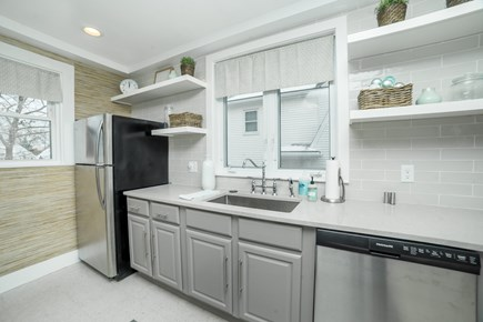 Downtown Plymouth MA vacation rental - New stainless steel appliances including dishwasher.