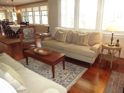 Chatham Cape Cod vacation rental - Living room directly off of dining area.