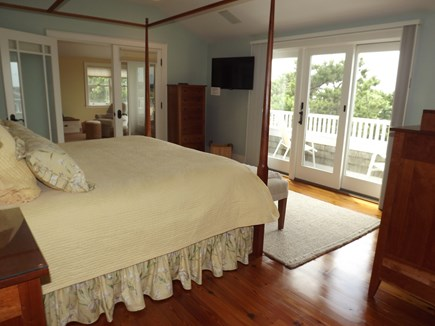 Chatham Cape Cod vacation rental - Upstairs master king size bed with balcony and views.