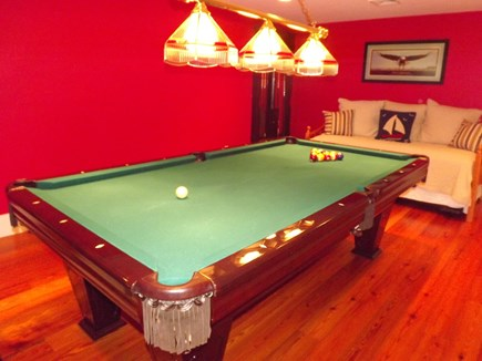 Chatham Cape Cod vacation rental - Lower level pool table.