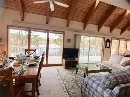 Brewster Cape Cod vacation rental - Living/dining area with view