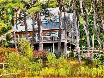 Brewster Cape Cod vacation rental - View of Back Deck from Pond