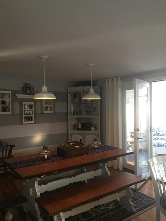 Falmouth, Maravista Cape Cod vacation rental - Dining area with French doors to the sunroom