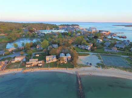 Woods Hole Woods Hole vacation rental - Aerial view of Stony Beach and Woods Hole Village on the horizon.