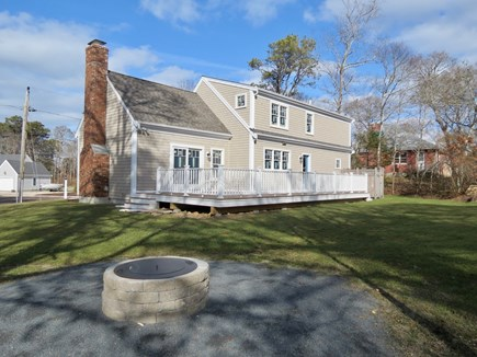 Brewster Cape Cod vacation rental - Huge deck, big private yard, plus a fire pit to extend the fun