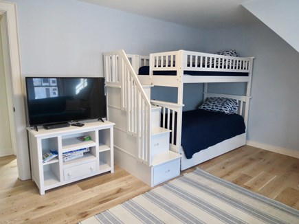 Brewster Cape Cod vacation rental - Upper level kids room has bunks plus a futon