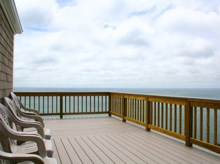 Truro Cape Cod vacation rental - Spacious back deck overlooking the bay
