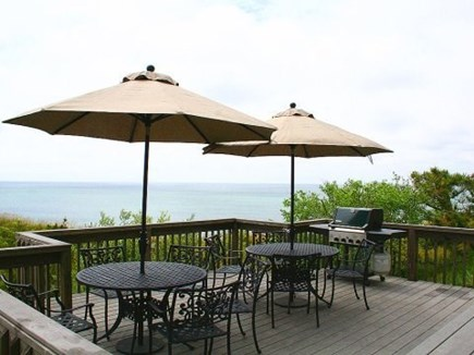 Truro Cape Cod vacation rental - Back deck with outdoor dining and gas grill