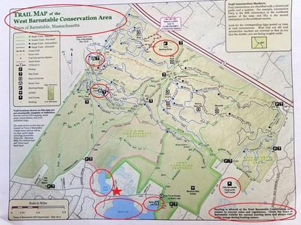 Marstons Mills, Barnstable Marstons Mills vacation rental - Map of conservation land in Barnstable