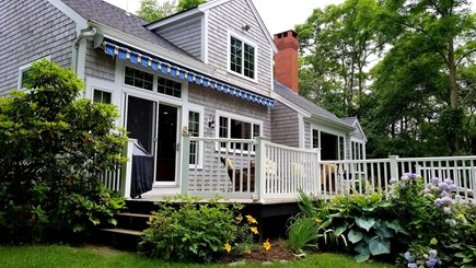 Marstons Mills, Barnstable Marstons Mills vacation rental - Back deck for your enjoyment
