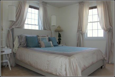 Plymouth MA vacation rental - Spa like queen bedroom with new bed and mattress and two windows