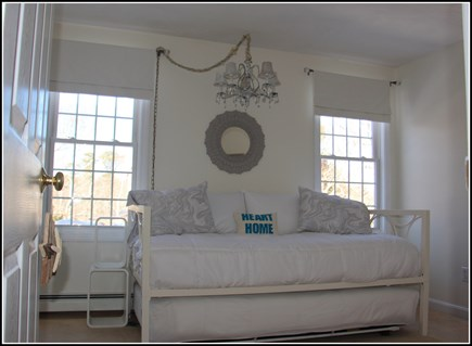 Plymouth MA vacation rental - New twin bed with a trundle that rolls out and pulls up