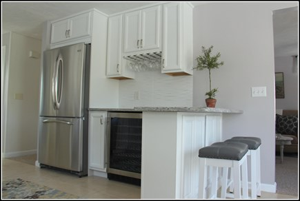 Plymouth MA vacation rental - Built-in beverage refrigerator and plenty of wine glasses
