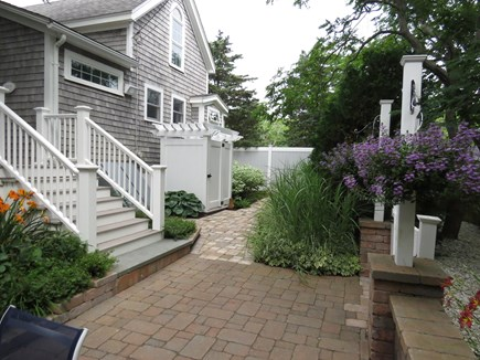 Cape Cod Bay @ Eastham Cape Cod vacation rental - Back Patio Garden With private outside shower