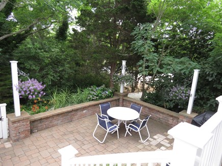 Cape Cod Bay @ Eastham Cape Cod vacation rental - Dining area in Back Patio Garden