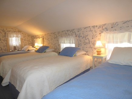 Chatham Cape Cod vacation rental - 2nd floor bedroom with 4 twins