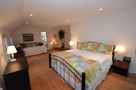 Orleans Cape Cod vacation rental - Carriage House bedroom with king bed and twin daybed with trundle