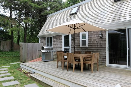 Chatham Cape Cod vacation rental - Large back deck with a grill for dining and entertaining.