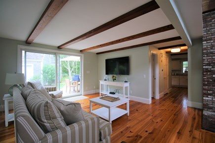 Chatham Cape Cod vacation rental - The living room is fully equipped w/large flatscreen television