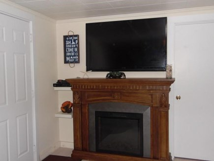 East Falmouth Cape Cod vacation rental - Electric Fireplace, TV