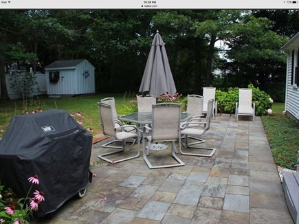West Yarmouth Cape Cod vacation rental - Private patio, grill and outdoor shower
